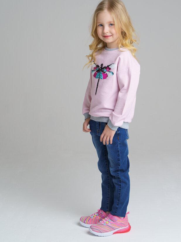 брюки джинс (текстиль) для девочек