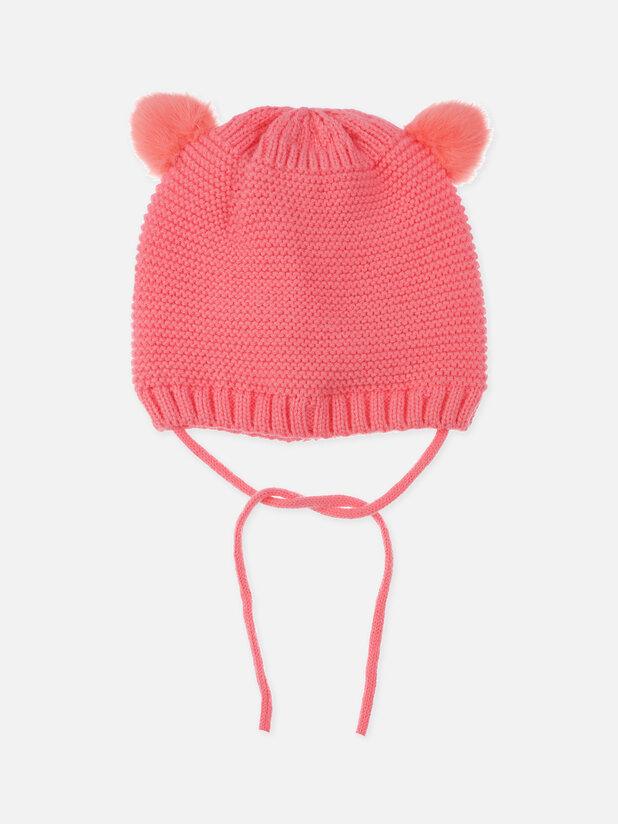 шапка (вязаный трикотаж) для девочек