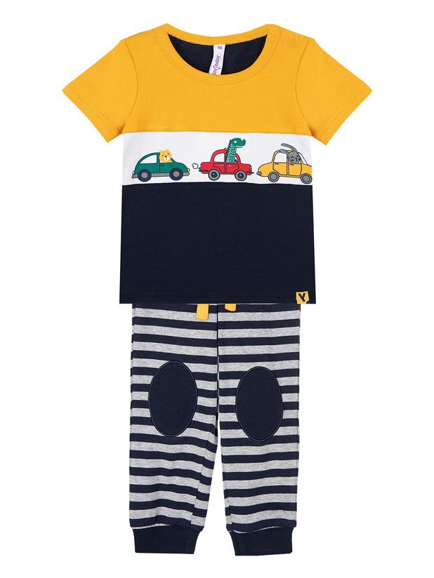 Комплект футболка, брюки (кроеный трикотаж) для мальчиков