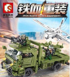 Конструктор SEMBO BLOCK SWAT 105621 Транспортно-пусковая установка с БПЛА 105621 442 дет