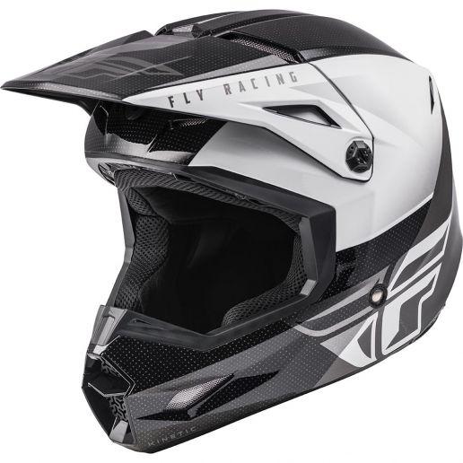 Fly Racing 2021 Kinetic Streigt Edge Black/White шлем внедорожный