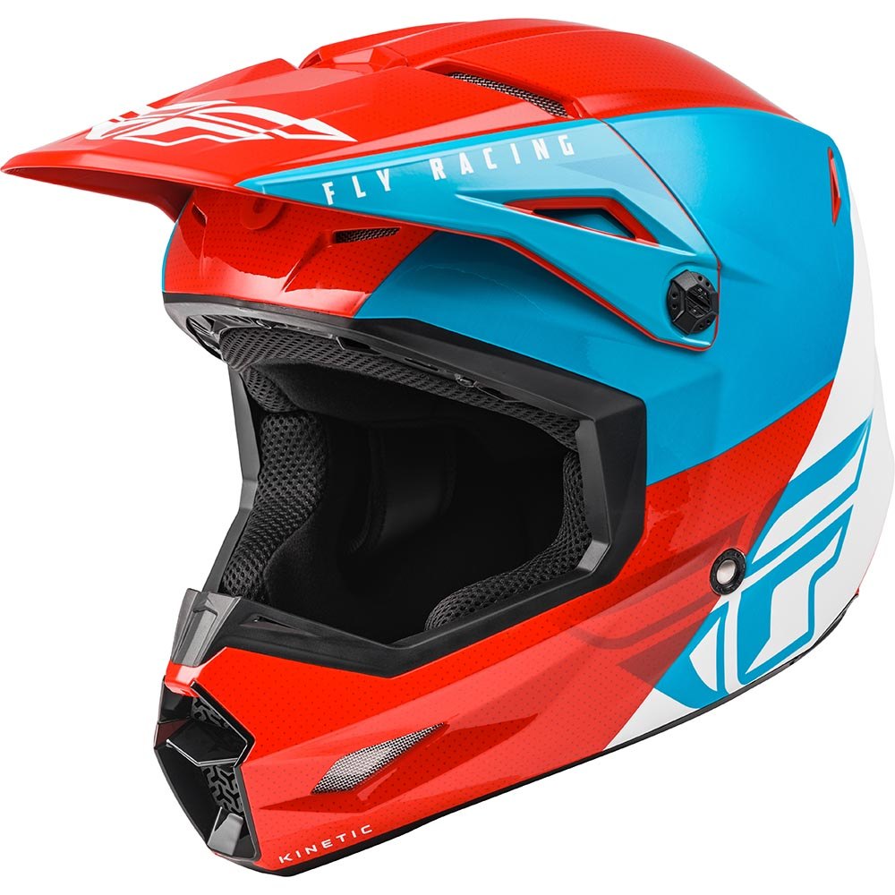 Fly Racing 2021 Kinetic Streigt Edge Red/White/Blue шлем внедорожный