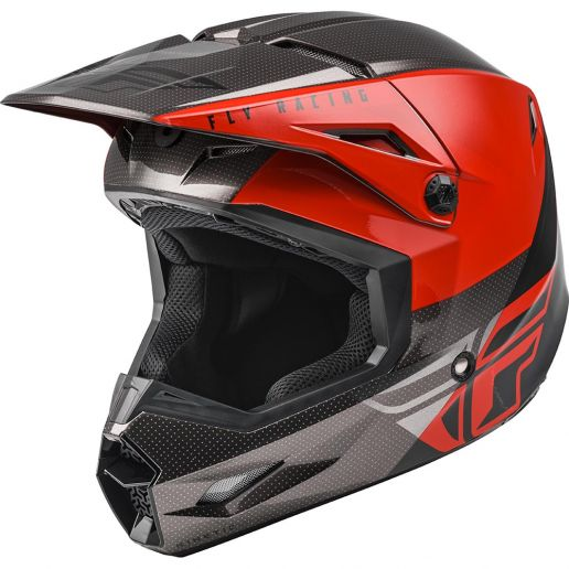 Fly Racing 2021 Kinetic Streigt Edge Red/Black/Grey шлем внедорожный