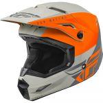 Fly Racing Kinetic Streigt Edge Matte Orange/Grey шлем внедорожный