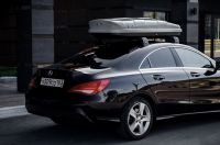 Автомобильный бокс на крышу Nobu Cross, 380 литров, серый текстурный