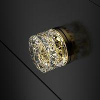 Мебельная ручку Glass Design Mirage. золото/прозрачный кристалл