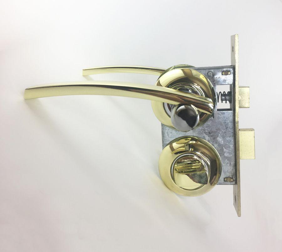 Комплект дверной с заверткой, ручка Kerron 7030, золото