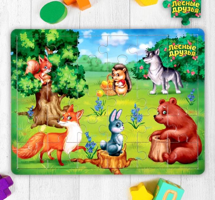 Пазл большой «Лесные друзья», 30 элементов