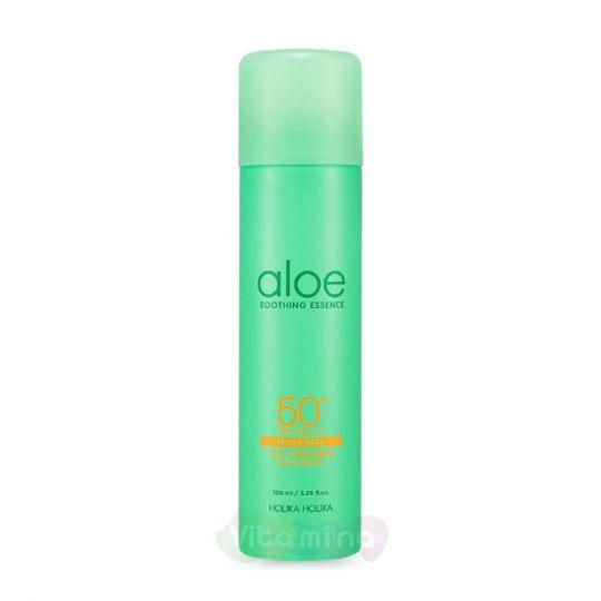 Holika Holika Солнцезащитный спрей охлаждающий Aloe Ice Cooling Sun Spray SPF 50+ PA++++, 100 мл