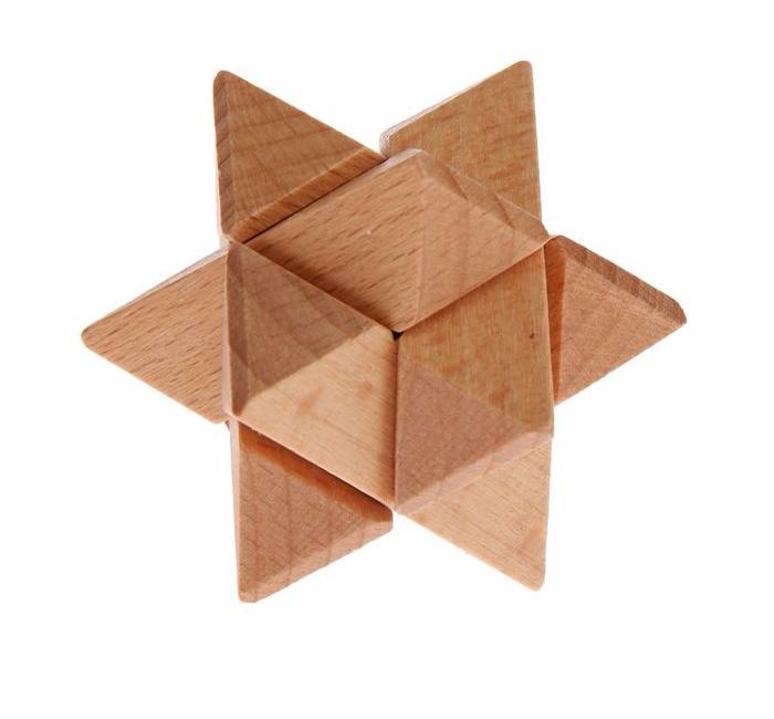 Головоломка деревянная мини № 9