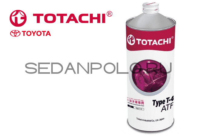 МАСЛО АКПП TOTACHI (JAPAN) TYPE-T 4 1L VOLKSWAGEN POLO SEDAN/SKODA RAPID