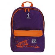 Рюкзак школьный 40 х 31 х 13 см «Эмблема», фиолетовый