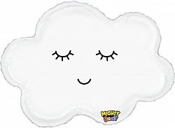 Шар (30''/76 см) Фигура, Воздушное облачко, Белый, 1 шт.., Grabo