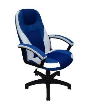 Кресло OFFICE-LAB КР08 TW Синий/синий/кант белый