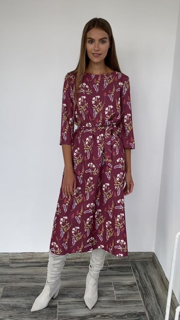 """s2258 Платье-трапеция длины """"миди"""""""