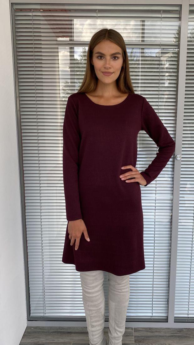 s2246 Платье-свитер в бордовой расцветке