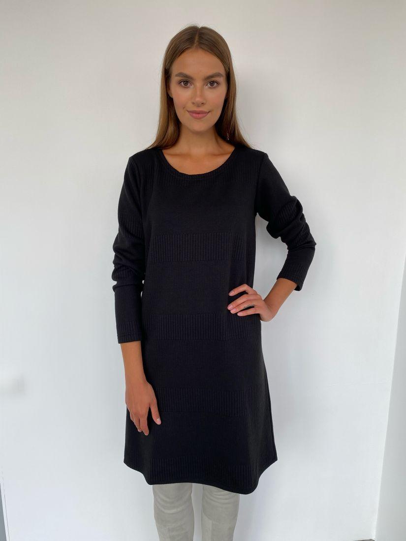 s2244 Платье-свитер чёрного цвета