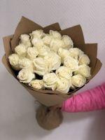 25 роз Mondial в крафт бумаге