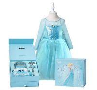 Платье Эльзы Холодное сердце в подарочной коробке с аксессуарами