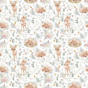 Хлопок Перкаль Милые оленята 50х37