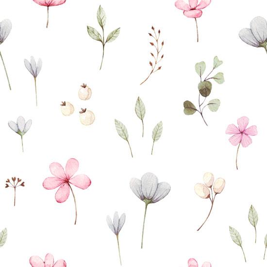 Хлопок Перкаль Полевые цветы  50х37