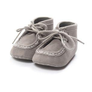 Ботиночки серые 11 см