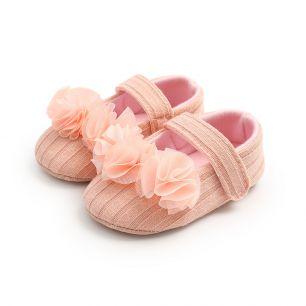 Сандалики розовые с рюшей 11 см