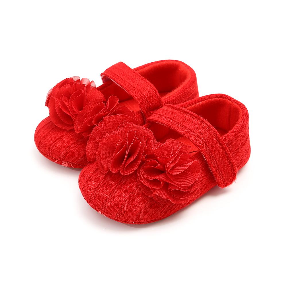 Сандалики красные с рюшей 11 см