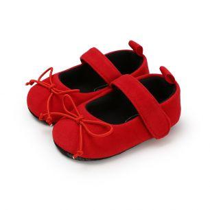 Сандалики красные с бантиком 11 см