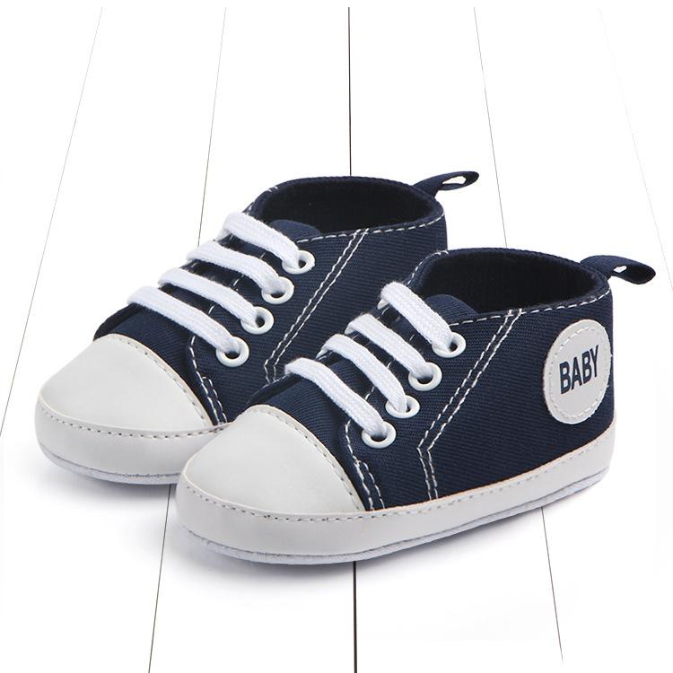 Кеды на шнурках  синие 11 см