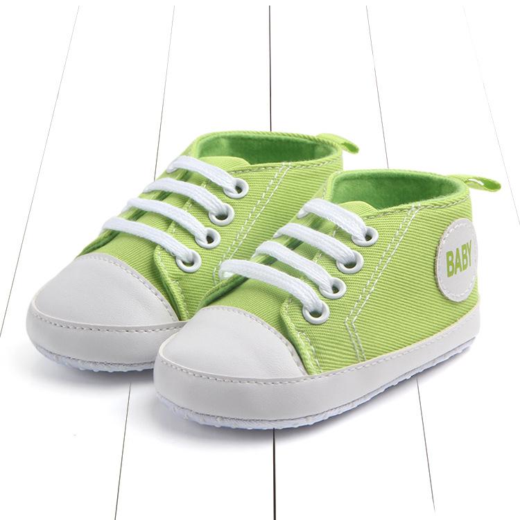 Кеды на шнурках  зеленые 11 см