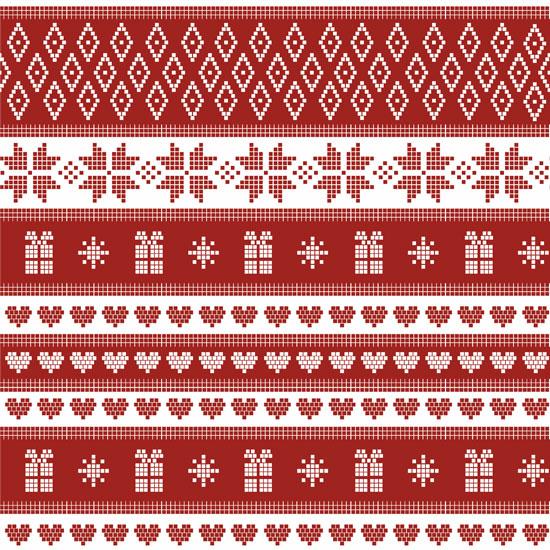 Лоскут трикотажной ткани - Скандинавский узор 55х40 см