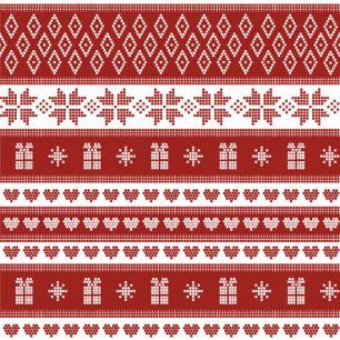 Лоскут трикотажной ткани - Скандинавский узор 50х40 см