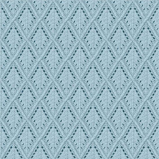 Лоскут трикотажной ткани - Принт ажурная вязка 50х40 см