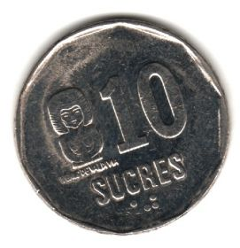 Эквадор 10 сукре 1991