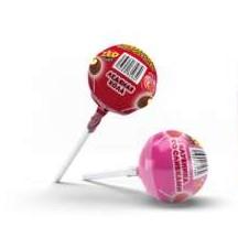 ЗУБОДРОБИЛКА Ураган сладких вкусов многослойная конфета на палочке с надувной резинкой и жидким центром, 2 шт.