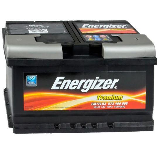 Автомобильный аккумулятор АКБ Energizer (Энерджайзер) PREMIUM EM72LB3 572 409 068 72Ач о.п.