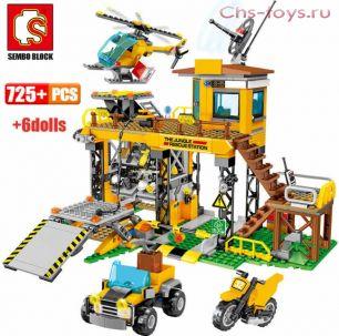 Конструктор SEMBO BLOCK Станция спасателей в Джунглях 603032 725 дет