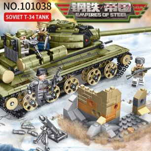 Конструктор SEMBO BLOCK Советский танк T-34 101038 683 дет