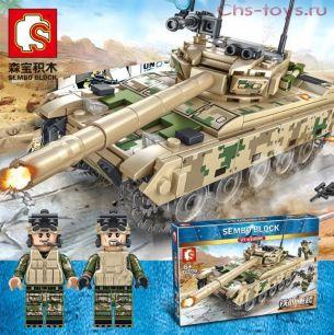 Конструктор SEMBO BLOCK Основной боевой танк VT-4 105562 432 дет