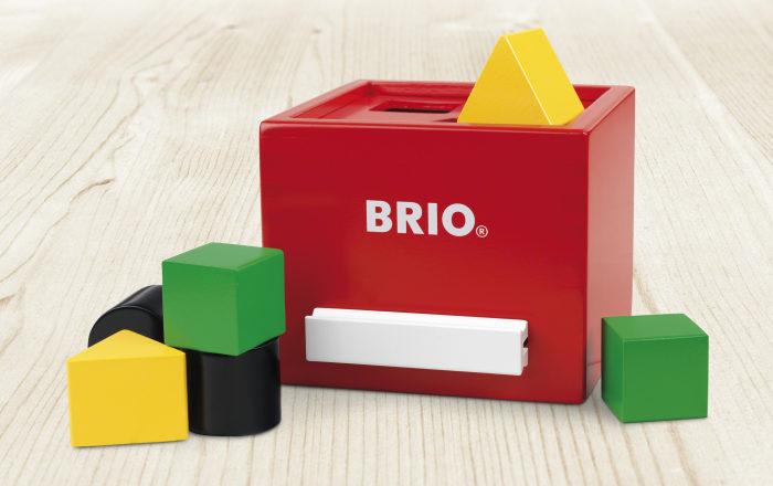 BRIO Сортер с кубиками красный, 13х11х14см,кор.