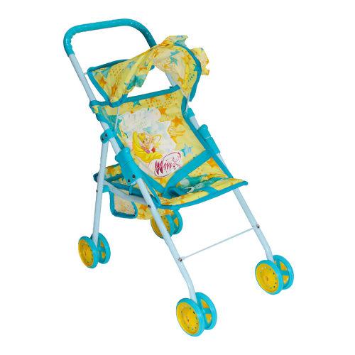 1toy Winx коляска для кукол, мет.каркас, 47,5х25х55см, желт