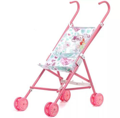 1toy Winx коляска для кукол, пласт.каркас, 42х27,5х58см, розов