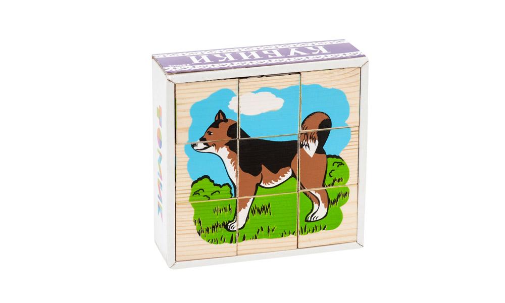 Кубики ТОМИК 4444-3 Домашние животные (9 шт)