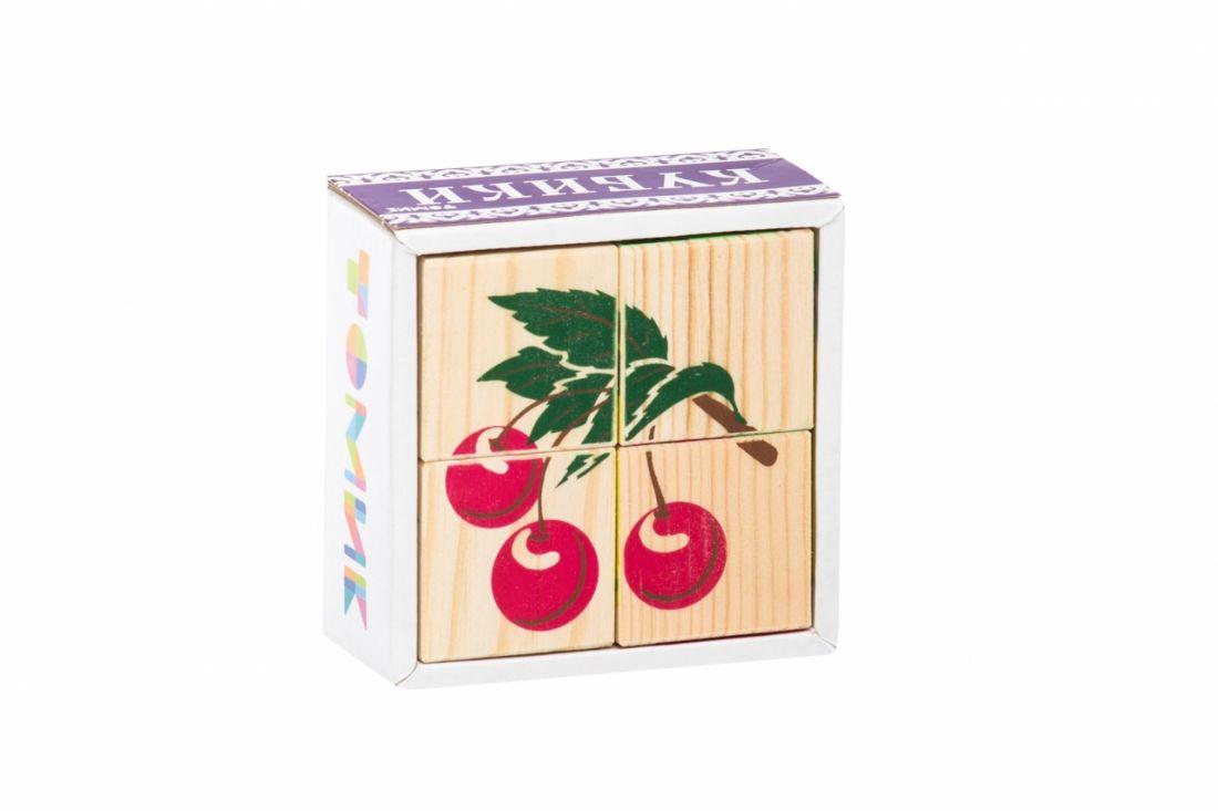 Кубики ТОМИК 3333-2 Фрукты-ягоды (4 шт)