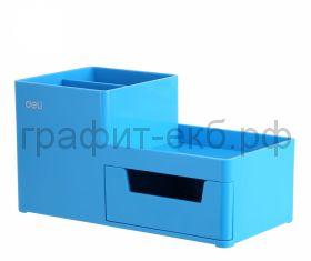 Подставка органайзер Deli Rio 4 отделения 175x90x92мм голубой пластик EZ25130