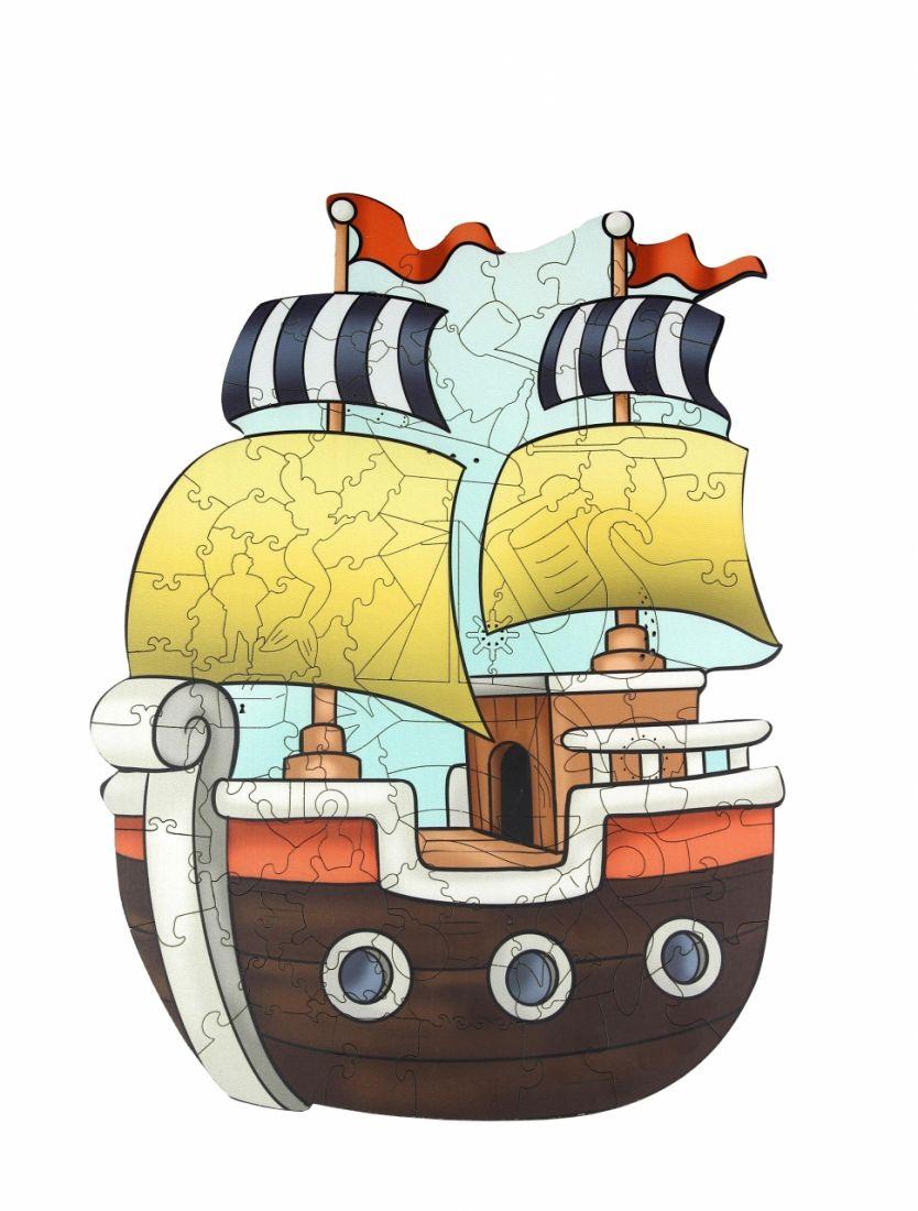 Пазл WOODLANDTOYS 147101 Кораблик