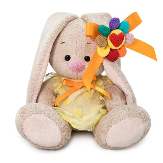 Мягкая игрушка BUDI BASA SidX-372 Зайка Ми в платье с семицветиком 15 см