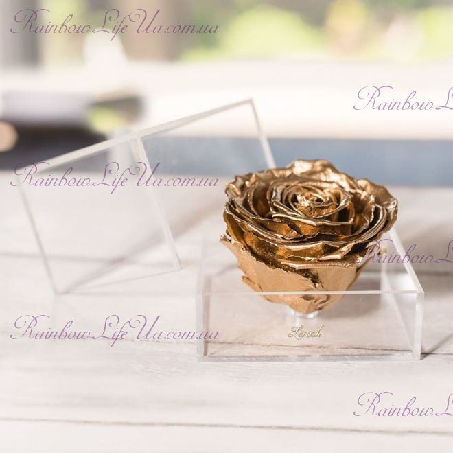 "Бутон розы в коробке ""Premium Gold"""