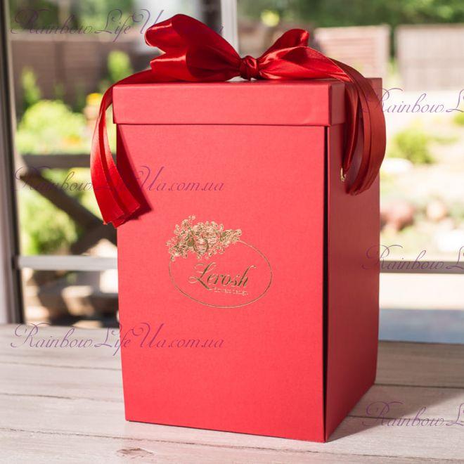 Коробка подарочная 27 см для розы в колбе